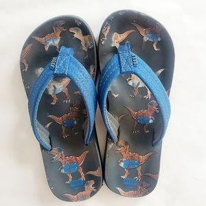 3/$25 Reef dinosaur size 13/1 sandal flip …
